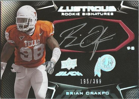 09 UB Brian Orakpo Lustrous Rookie Signature