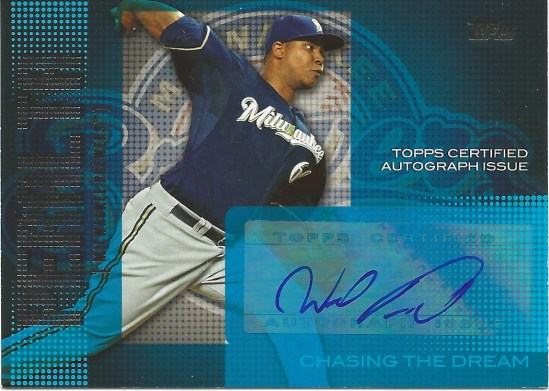 13 T Wily Peralta Chasing the Dream Auto