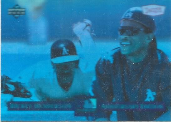 94 UD Rickey Henderson Dennys Hologram