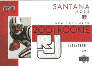 01 UD Santana Moss Game Gear Jersey510:1000