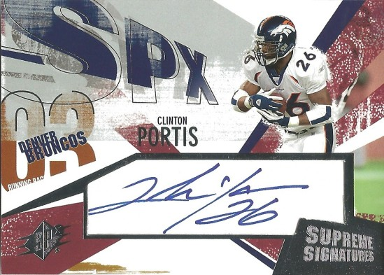 03 SP Clinton Portis Supreme Signatures Auto