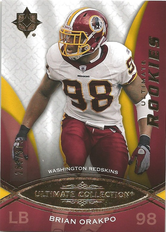 09 UD Brian Orakpo Ultimate Collection Rookies 263:375