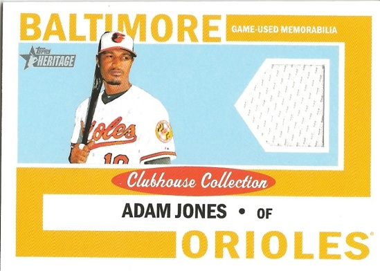 12 TH Adam Jones Clubhouse Collection White Jersey