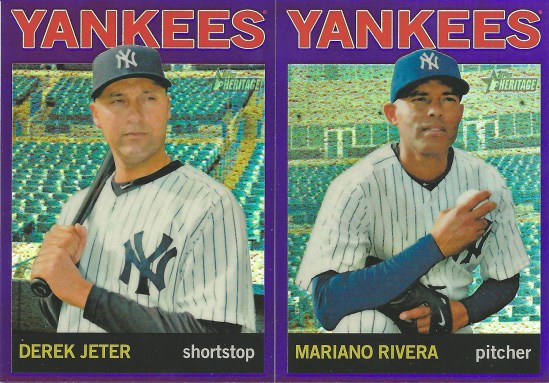 12 TH Jeter Rivera Blue Refractor