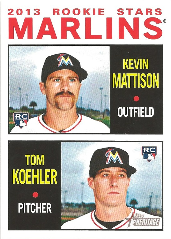 12 TH Kevin Mattison Tom Koehler Marlins Rookie Stars