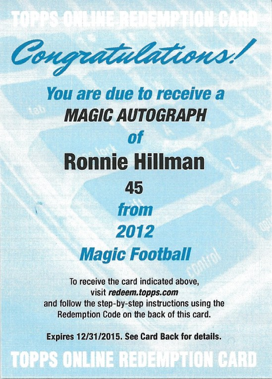 12 TM Ronnie Hillman Magic Auto Redemption
