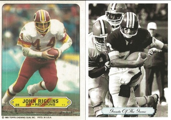 83T 92P Theismann and Riggins