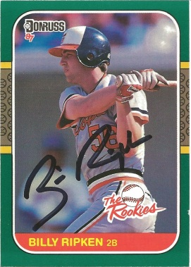 1987 Donruss the Rookies Billy Ripken