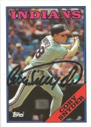 1988 Topps Cory Snyder