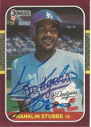 1987 Donruss Opening Day Franklin Stubbs