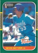 1987 Donruss the Rookies Kevin Seitzer
