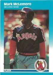 1987 Fleer Mark McLemore