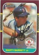 1987 Donruss Opening Day Marty Barrett