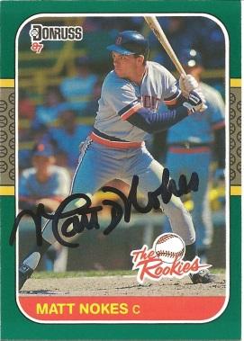 1987 Donruss the Rookies Matt Nokes