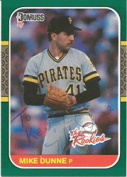 1987 Donruss the Rookies Mike Dunne