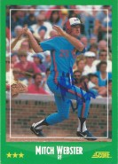 1988 Score Mitch Webster