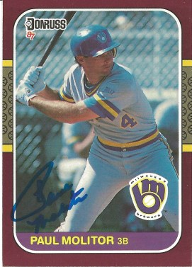 1987 Donruss Opening Day Paul Molitor