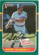 1987 Donruss the Rookies Rafael Palmeiro
