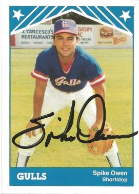 1986 Minor League Spike Owen
