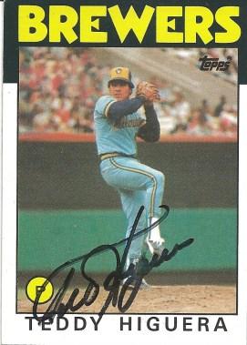 1986 Topps Teddy Higuera