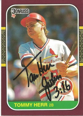 1987 Donruss Opening Day Tom Herr