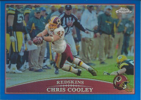 09 TC Chris Cooley Blue Refractor