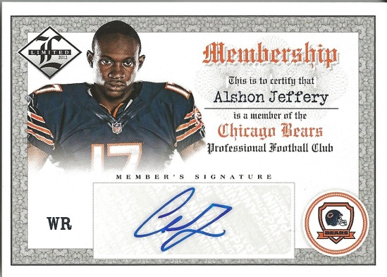 12 PL Alshon Jeffery Membership Auto 61:99