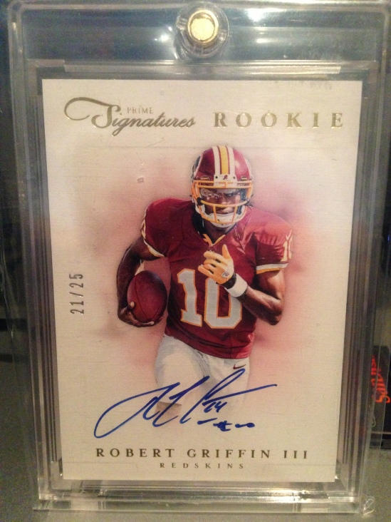 12 PS Robert Griffin III Auto 21:25