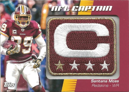 12 TC Santana Moss NFL Captain Patch