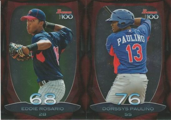 13 BB Eddie Rosario Dorssys Paulino Top 100