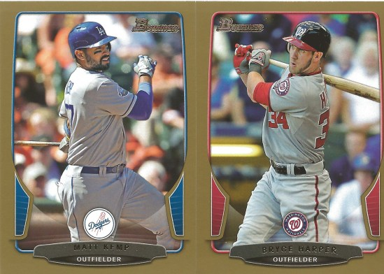 13 BB Matt Kemp Bryce Harper Gold Border