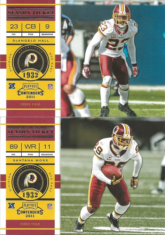 11 PC DeAngelo Hall Santana Moss
