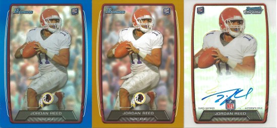 13 BO Jordan Reed Blue Orange Chrome Auto