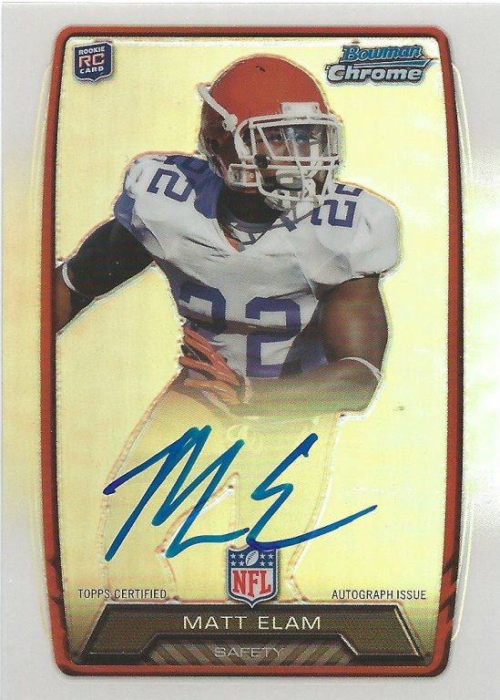 13 BO Matt Elam Chrome Autograph
