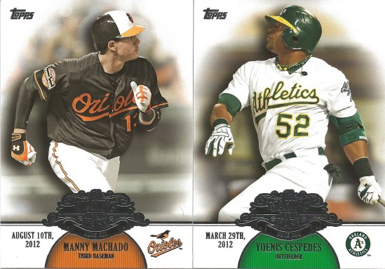 13 T Manny Machado Yoenis Cespedes Making their Mark