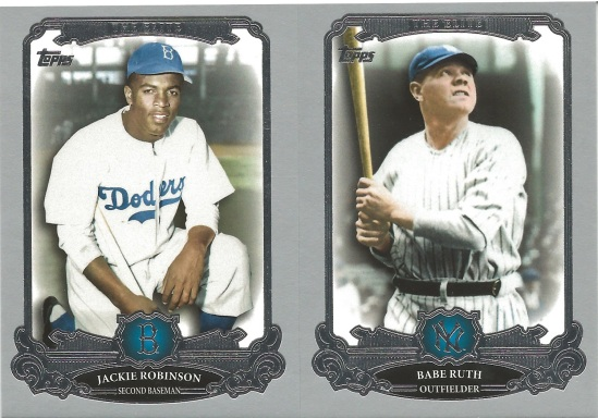 13 T Jackie Robinson Babe Ruth The Elite
