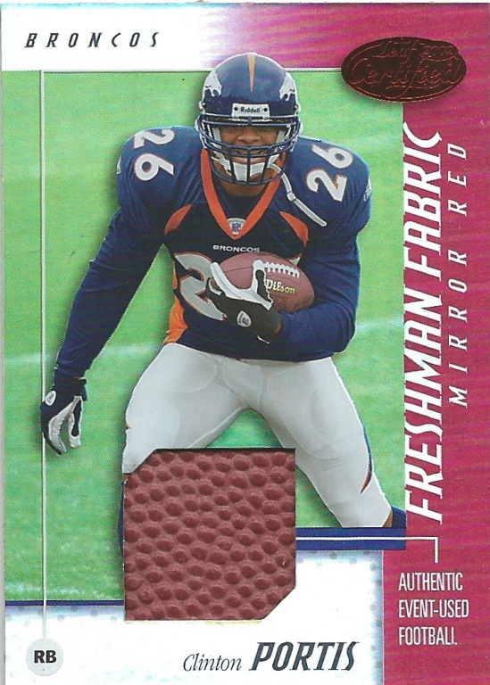 02 LC Clinton Portis Freshman Fabric Footbal cut 11:250