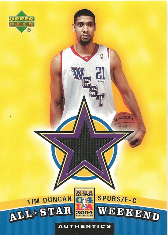 04 UD Tim Duncan All Star Jersey