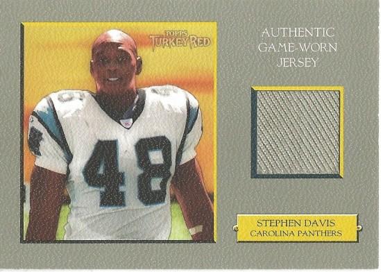 06 TR Stephen Davis Game Worn Jersey