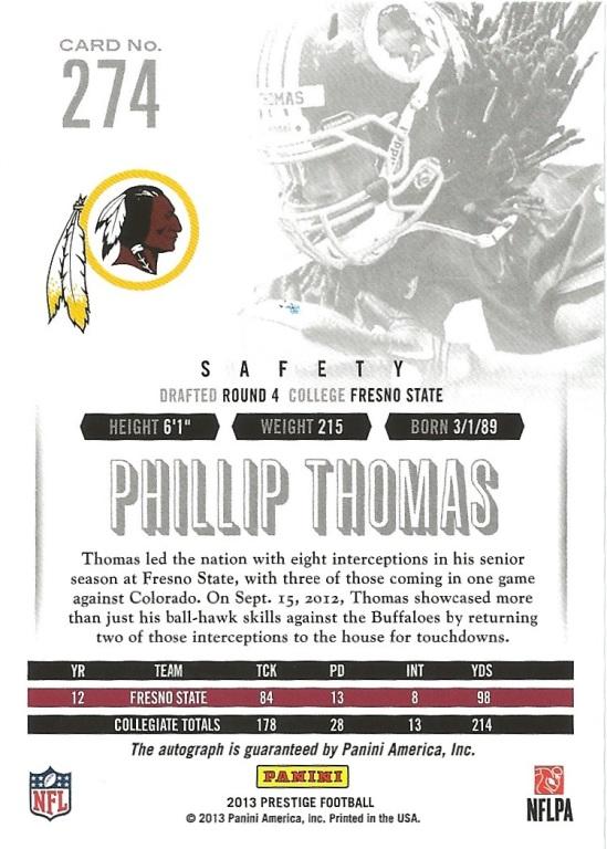 13 PP Phillip Thomas Extra Points Auto Spectrum B