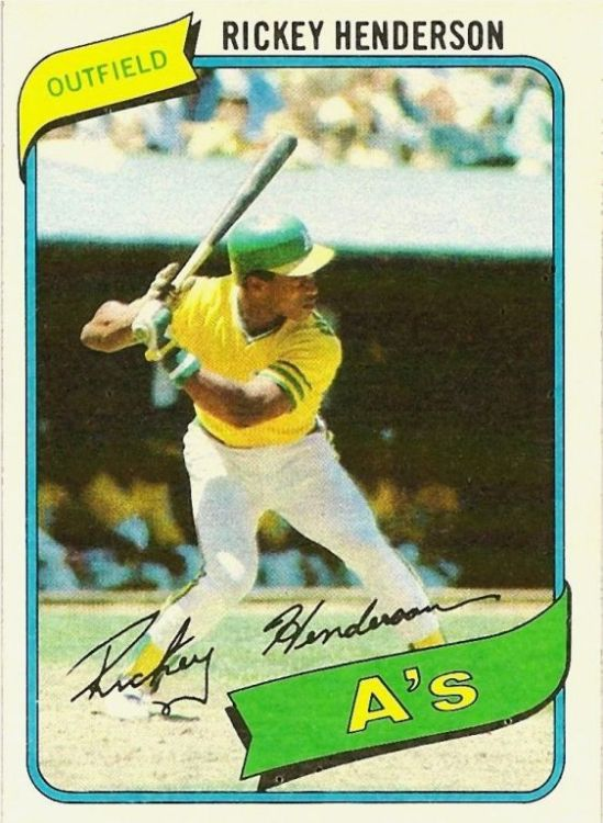 80 TO Rickey Henderson Rookie