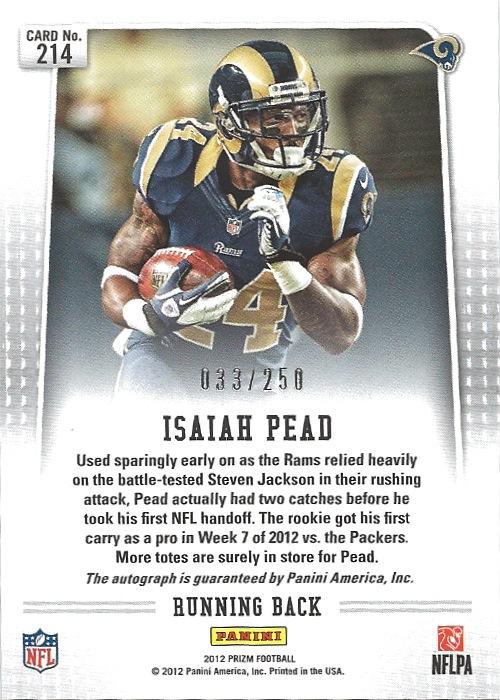 12 PP Isaiah Pead Auto 33:250 B
