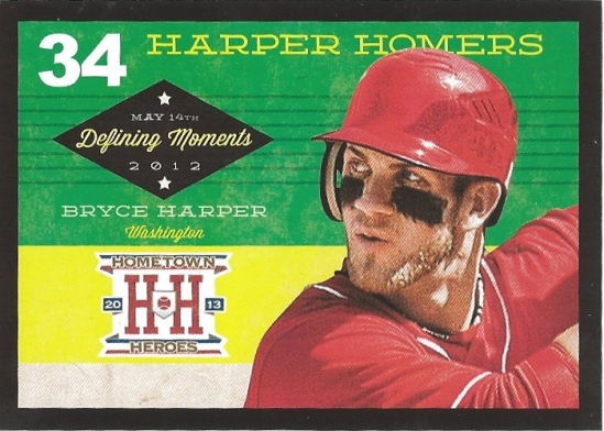 13 HH Bryce Harper Defining Moments Black Border