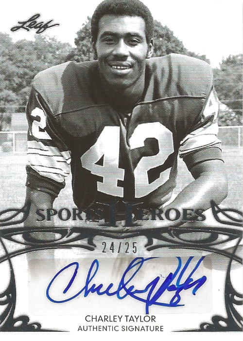 13 LS Charley Taylor Sports Heroes Auto 24:25