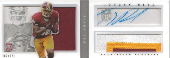 13 PP Jordan Reed booklet 102:271 Auto Relic