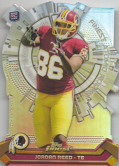 13 TF Jordan Reed  Finest Atomic Rookies Die Cut