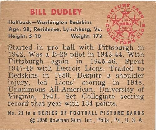 50 BO Bill Dudley B