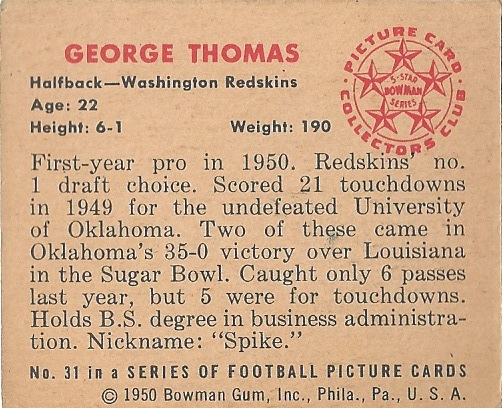 50 BO George Thomas B