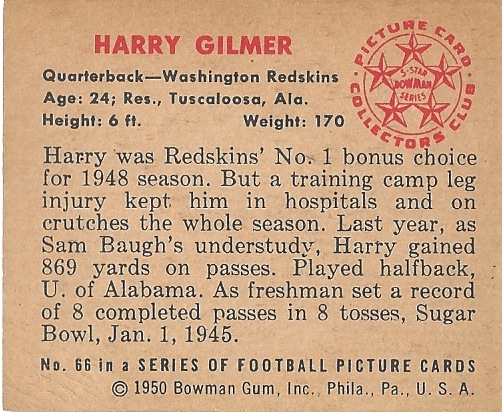 50 BO Harry Gilmer B