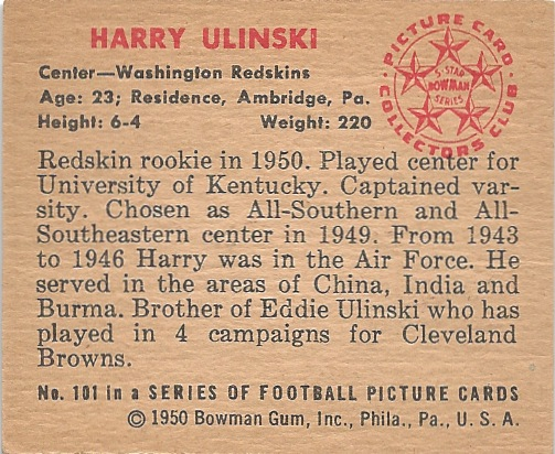 50 BO Harry Ulinski B